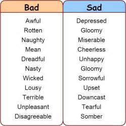Bad Day In Other Words Click On Synonyms For Quot Quot Quot Quot Quot Bad Quot Quot Sad Quot