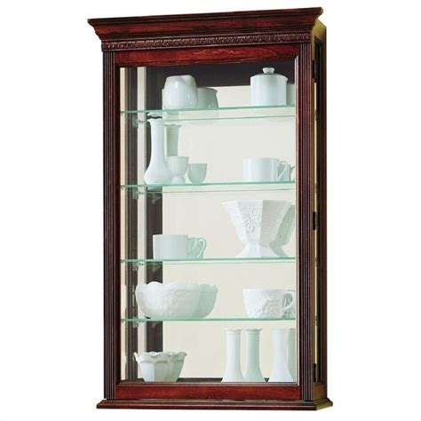 Wall Curio Cabinet Glass Doors by Howard Miller Edmonton Wall Display Curio Cabinet 685104