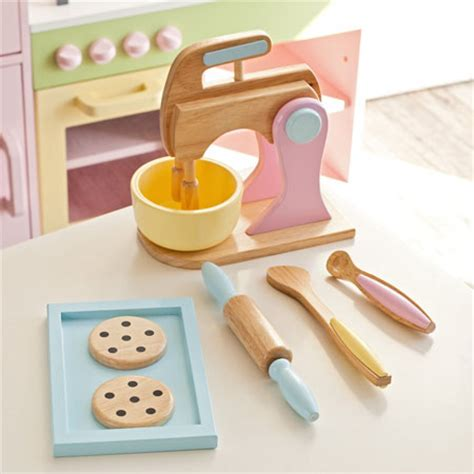 kidkraft 4 pack pastel accessories play kitchen complete your kid s imaginary kitchen with wooden kidkraft