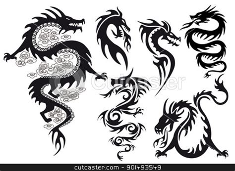 dragon tattoo vector free simple dragon clipart