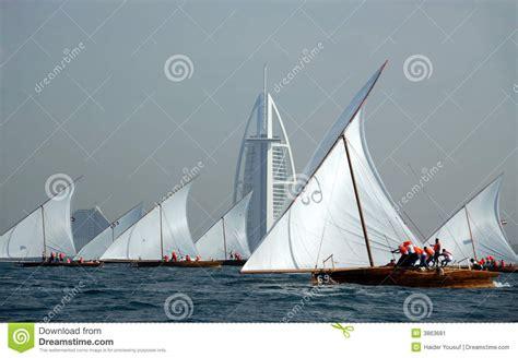 dhow boat icon dhow sailing to burj al arab stock image image 3863681