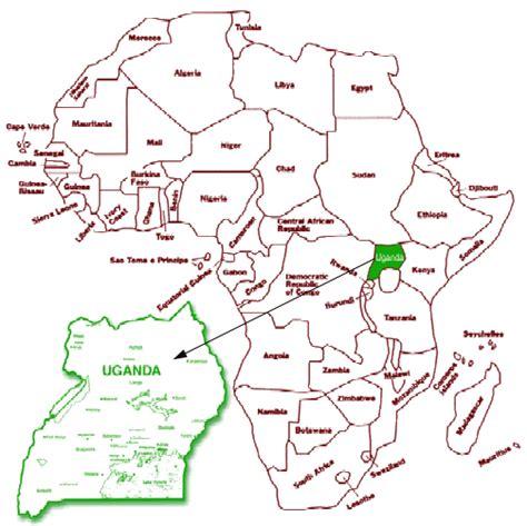 africa map uganda strosnider july 2010