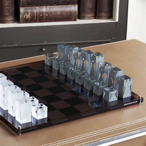 fancy chess set fancy acrylic chess set by jonathan adler