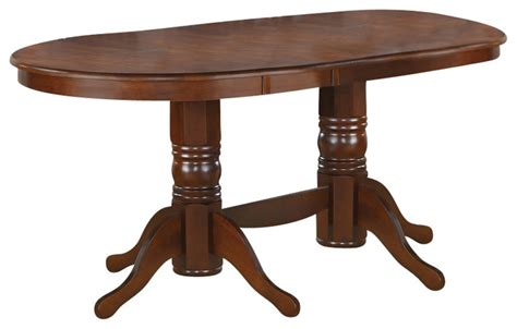 Oval Pedestal Dining Table With Leaf Vancouver Oval Pedestal Dining Room Table With Butterfly Leaf Espresso Traditional