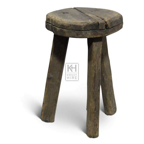 Thick Stools prop hire 187 stools 187 thick wood stool keeley hire