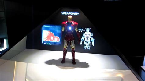 hot toys iron man mark vii action figure holographic
