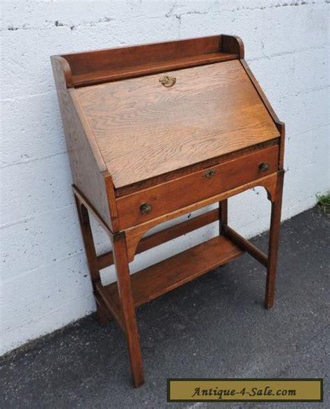 antique mission oak desk for sale early 1900 s small mission solid oak desk 7759