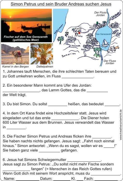 Bilder Lebenslauf Jesus Simon Petrus Und Andreas Suchen Jesus