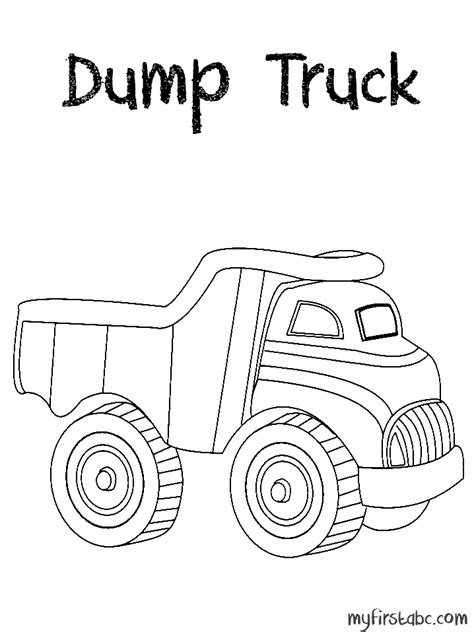 dump truck coloring page my first abc