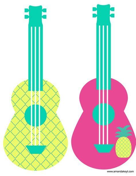 printable luau photo booth props ukulele jpg pineapple party pinterest photo booth