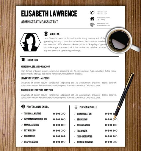 Photo Resume Template Word by Resume Template With Photo Cover Letter Cv Template