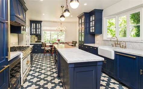 How To Put Up Tile Backsplash In Kitchen 23 Gorgeous Blue Kitchen Cabinet Ideas