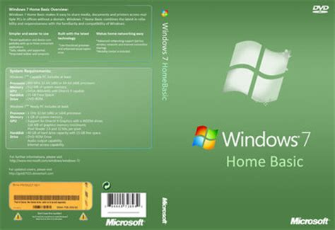 windows 7 home basic box cover by goldi7515 on deviantart