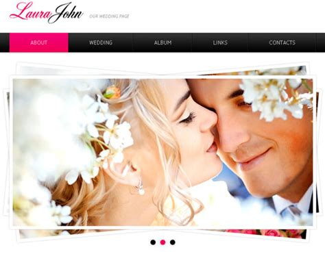 free wedding site templates 18 free lovely wedding website templates designfreebies
