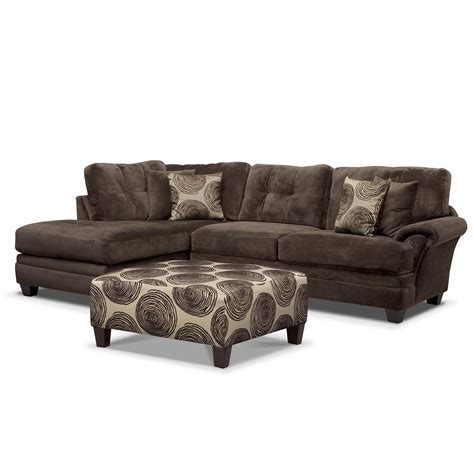 vcf sectionals cordelle 2 piece left facing chaise sectional and cocktail