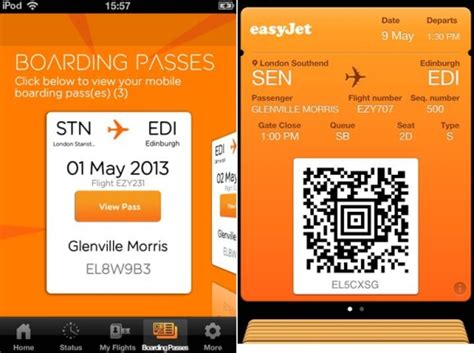 easyjet mobile boarding pass easyjet mobile boarding pass trial includes passbook