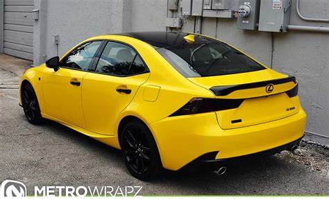 lexus yellow gloss yellow lexus is by metro wrapz