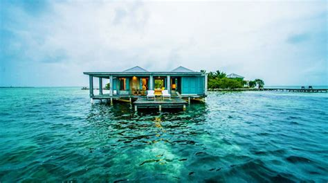 water bungalows in caribbean five overwater caribbean bungalow hotels