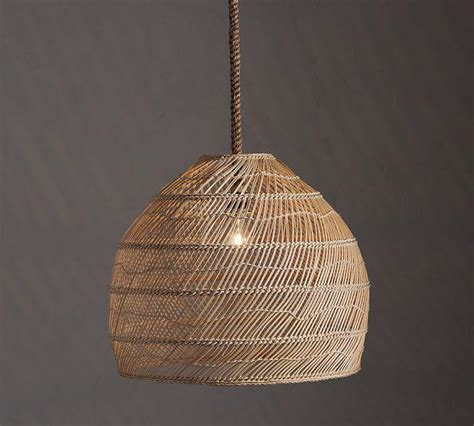 Wicker Pendant Lights Rattan Woven Hanging L I Horchow