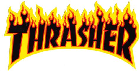 Kaos Thrasher Free Sticker 1 thrasher lg 10 quot sticker free shipping