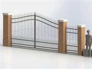 3d Home Software cancello carraio e pedonale modellato con software