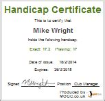 golf handicap certificate template golf handicap my online golf club adorable golf certificates for professional players free