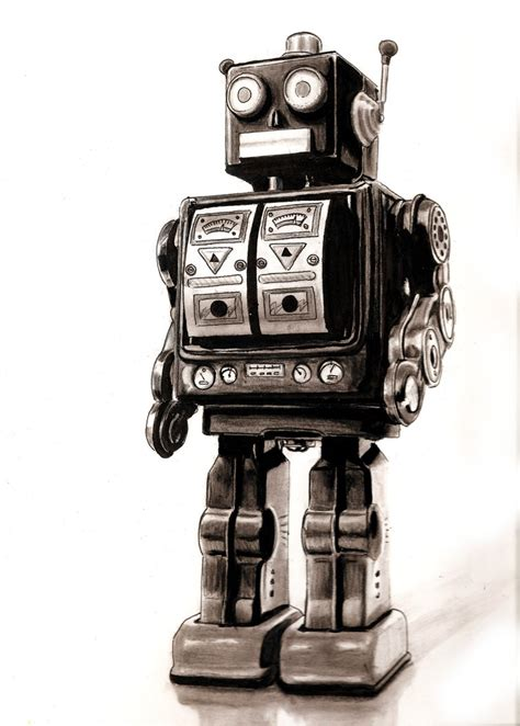 classic robot wallpaper vintage robot good scan by jamesboots on deviantart