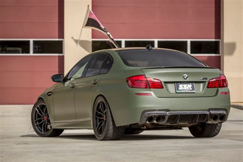 green bmw a green bmw f10 m5 with vorsteiner aero parts and
