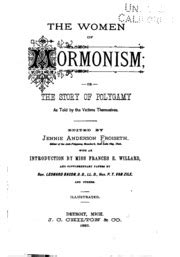an englishwoman in utah the story of a life s experience in mormonism an autobiography 1880 ebook the women of mormonism or the story of polygamy as told
