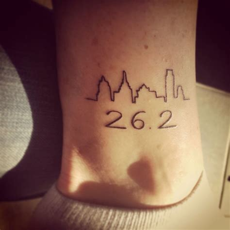 infinite tattoo philadelphia commemorative tattoo for my first marathon and the 20th