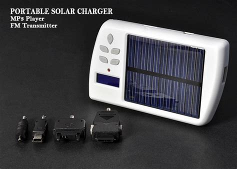 portable solar charger  mp player  fm transmitter