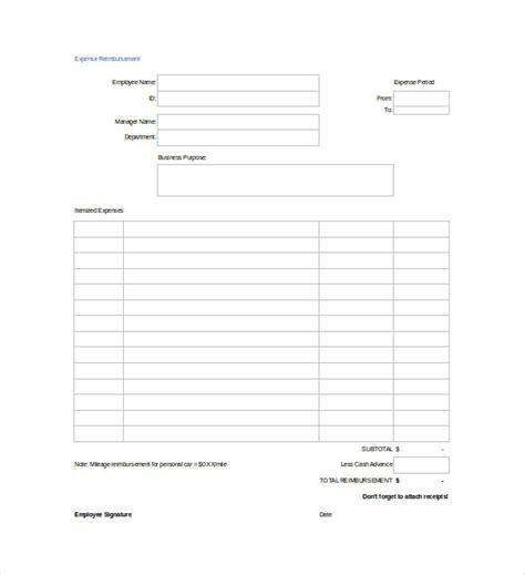 13 Blank Spreadsheet Templates Pdf Doc Free Premium Templates Free Reimbursement Request Form Template