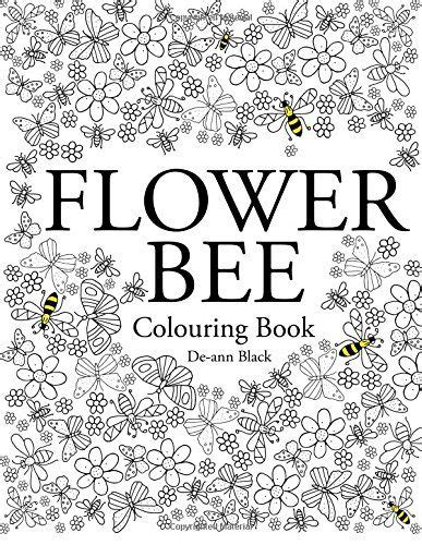 Flower Bee Coloring Book flower bee colouring book by de black http www