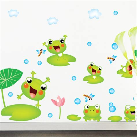 Poster Daun Suplir aliexpress buy new diy frog lotus pond flower