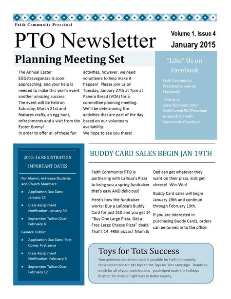 Pto Newsletter Ptsa Ideas Pta Pta School Pto Meeting Newsletter Templates For Drive