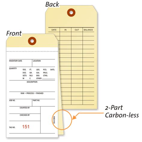 Inventory Tags And Inventory Labels Inventory Tag Template