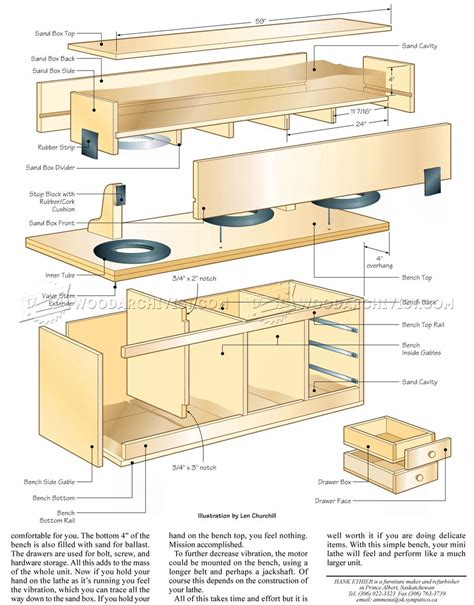Mini Lathe Bench Plans Woodarchivist