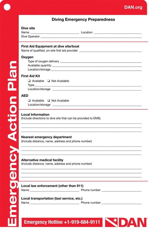 Padi Emergency Plan Template image result for emergency plan for scuba diving