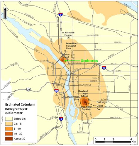 air quality map of oregon portland air quality map map