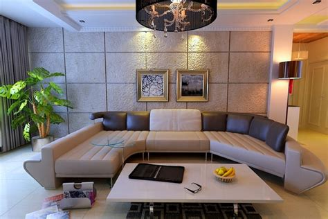 furnished living rooms modern fully furnished living room with plants and decorations 3d model max