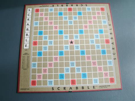 picture of a scrabble board scrabble board vintage 1990 by papercreationsbydeb on