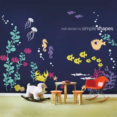 Wall Decal Kids Under The Sea Wall Decal Collection Nursery The Sea Wall Decals Nursery