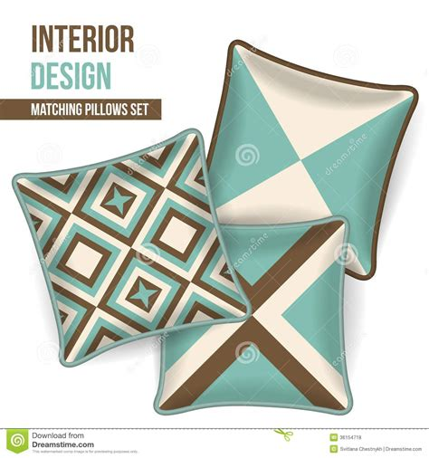 interior design color patterns set of decorative pillow royalty free stock photos image