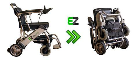 folding power wheelchair ez lite cruiser lightweight folding power wheelchair