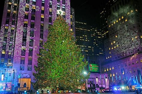 holiday revelers gather at rockefeller center christmas