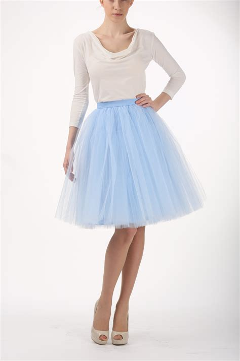 baby blue tutu skirt handmade tulle skirt high quality