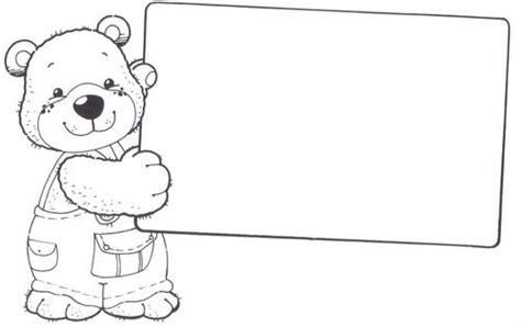 imagenes escolares sin colorear dibujos con marco para colorear imagui
