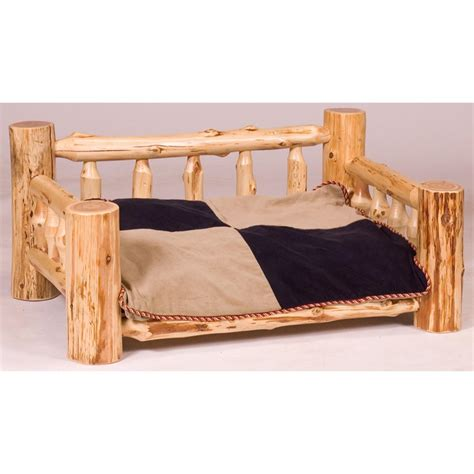 cedar log bed fireside lodge 174 cedar log dog bed with mattress 208744