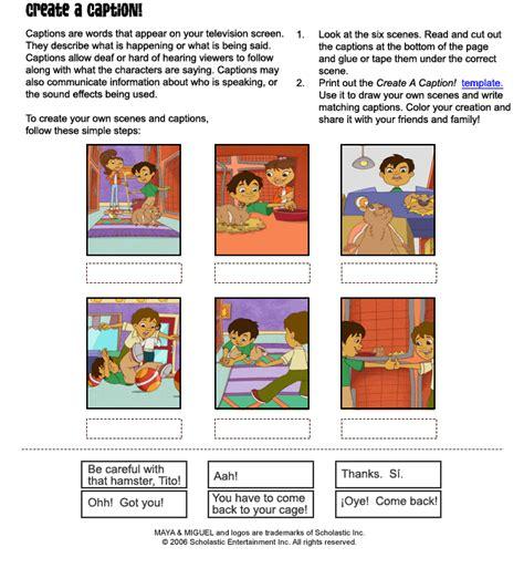 html make printable page maya miguel printables english create a caption