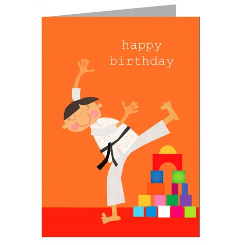 printable birthday cards karate martial arts birthday card by kali stileman publishing
